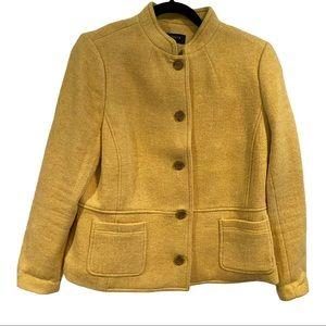 Talbots Mustard Yellow Blazer Mock Neck Lined